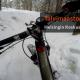 Talvimaastopyöräilyä Helsingin Keskuspuistossa